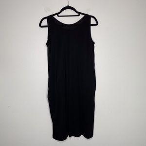 COS Black Sz M Sleeveless Pocketed Drape Dress